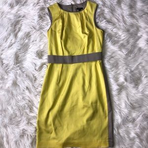 Ann Taylor Colorblock Belted Shift Dress